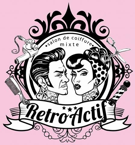 Logo salon retro actif